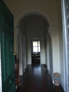 Our hallway leading to kitchen and dining room